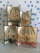 Folded Book Alphabet Paper Patterns + FREE Patterns create Name,Word Folded Book