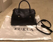 Furla Black Leather Satchel Made in Italy