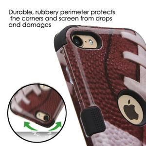 for iPod Touch 5th / 6th / 7th Gen - Football Hybrid Shockproof Armor Case Cover