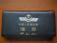15's series China PLA Navy Badge Officer Genuine Leather Wallet,CCC
