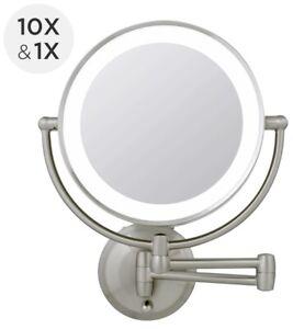 Zadro 1X-10X Next Gen Cordless LED Lighted Wall Mount MakeUp Mirror LEDW410 NEW