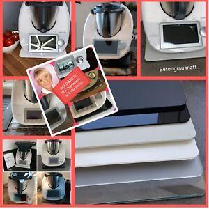 Gleitbrett f. Thermomix® TM6 TM5 TM31 klar, weiß, schwarz, anthrazit, grau matt