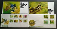 Singapore 1985 Insects Definitive 12v Stamps FDC (pair) 新加坡12全邮票首日封1对 --- 昆虫