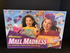 Electronic Mall Madness Board Game 1996 MB 100% Complete ~TESTED & WORKING~