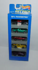 NIB 1995 HOT WHEELS 5 CAR GIFT PACK FEATURING 50'S FAVORITES NOMAD T-BIRD CAD