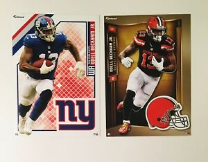 """Odell Beckham JR NY Giants & Cleveland Browns Fathead Tradeables 5"""" x 7"""" W/ Logo"""