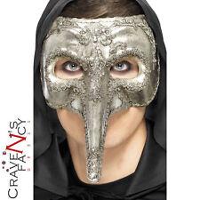 Luxury Venetian Capitano Mask Halloween Mens New Fancy Dress Costume Accessory