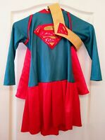Rubies DC Comics Supergirl Hooded Cape Halloween Costume Dress with Belt Size M