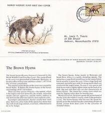 BOTSWANA 1977 3 FIRST DAY COVERS + CARDS WORLD WILDLIFE ANIMALS