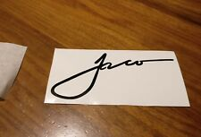 Jaco Pastorius sign black vinyl sticker decal for your Fender Jazz Bass