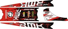 POLARIS RUSH PRO RMK  ASSAULT 120 144 155 163 TANK TOP TUNNEL DECAL splatter red