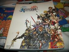 Final Fantasy Dissidia Strategy Player's Guide Players RARE sony psp