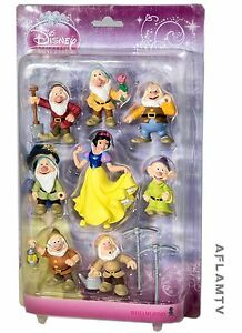 Snow White and the Seven Dwarfs Bullyland figures Cake Toppers Disney Princess