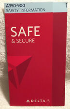 Delta Air Lines A350-900 Safety Card Emergency Instructions Airbus A350