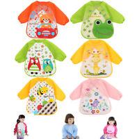 3PCS NEW Baby Long Sleeve Bibs Bib Apron Waterproof Art Smock Feeding Toddler!