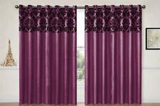 Rideaux et cantonnières violets contemporains pour la maison