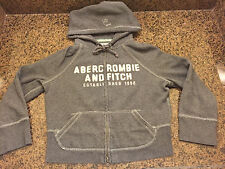 Abercrombie & fitch hooded hoodie zipper sweatshirt youth small gray