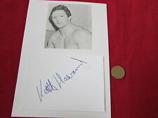 Hurricane Keith HARWARD 1970's  ITV Sport WRESTLING  Legend HAND SIGNED Display