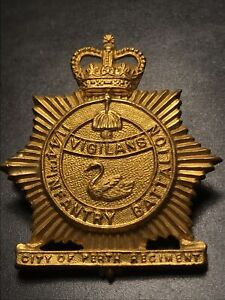 11/44 Bn Army Cap Badge City Of Perth MINT Lustre And Shine Top Example  Re:A110