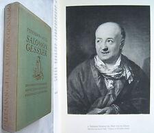 P. Leemann-van Elck: SALOMON GESSNER - Liter. u. Künstler. Werke - 1930