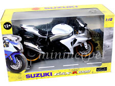 AUTOMAXX 600801 SUZUKI GSX R 1000 BIKE MOTORCYCLE 1/12 BLACK / SILVER / WHITE