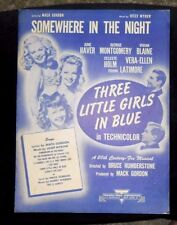 Somewhere In The Night 1946 Sheet Music  by Mack Gordon and Josef Myrow