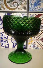 raro vaso, calice lavorazione punta diamante verde smeraldo difetto inclinazione