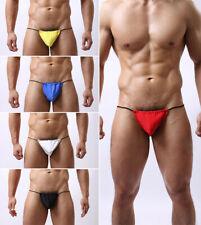 Mens Cotton Pouch Briefs Pants Thongs Bulge Underwear Bikini G-string T-back Men