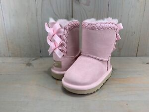 UGG BOOT CLASSIC II SHORT BRAIDED SEASHELL PINK 1103617T toddler us 8 nib