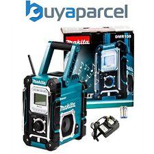 Makita DMR108 Job Site Radio BLUE Bluetooth + USB Charger - 7.2 - 18v Lithium