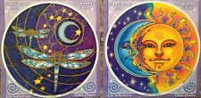 Dragonfly & Sun-Moon Reflection window stickers (1 each)