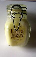 NEXT Lime Cinnamon & Ginger Bath Treats Locking Lid Glass Jar Body Butter New