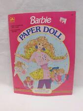 Golden Book Barbie Paper Doll 1502-1 1990 Uncut