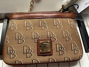 Dooney Bourke Wristlet wallet Cosmetic Bag Canvas Monogrammed Signature Pouch