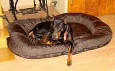 Panier pour chien 140x95x17 couverture déhoussable brun