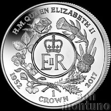 2017 Queen Elizabeth II Sapphire Jubilee: Royal Cypher CUNI COPPER NICKEL Coin