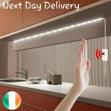 USB LED Strip Lights White with adhesive and Hand Motion Sensor (5 Meters)
