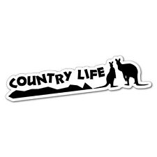 COUNTRY LIFE Sticker Decal Outback 4x4 Ute Country Aussie #6211EN