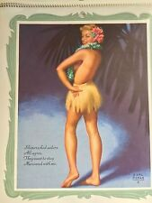 Rare Earl Moran Girls of 1954 Full Year Pin Up Girl Calendar Near Mint !!!