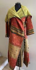 Women's Reversible Kantha Cotton Full Length Jacket, One Size (#155)