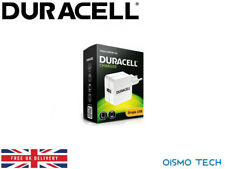Duracell 2.4A USB Mains Charger For Apple Smartphone and Tablet ( EU-Plug-White)