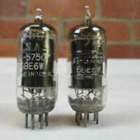 2 GE 6BE6W Vacuum Tubes 6BE6 JG5750 Black Plate TV-7 Tested