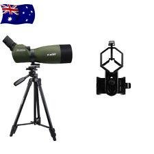 "SVBONY SV14 FMC 25-75x70mm Angled Zoom Spotting Scope + 49""Tripod&Phone Adapter"