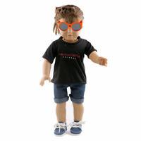 Puppe Kurzarm T-Shirt Kleidung für 18 Zoll amerikanische Mädchen-Puppe Schw O9P2