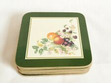 Johnson Brothers Fresh Fruit Cork Backed Drink Coasters x 6