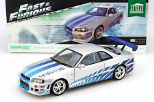 Brian's Nissan Skyline GT-R (R34) Baujahr 1999 Film 2 Fast 2 Furious 2003 1:18 G