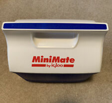 Vintage 90's MiniMate 6-Pack Can Lunch Cooler by Igloo Blue Red White
