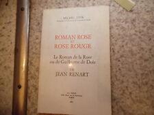 1979.Roman rose et rose rouge.Moyen age.Michel Zink (envoi)