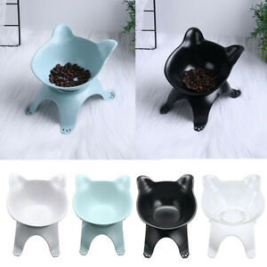 Pet Bowls with Raised Stand Cat Dog Food Dish Water Feeding Single Bowl Feeder