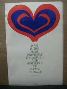 LOVE IS THE MOST UNIVERSAL COSMIC ENERGY VINTAGE POSTER GARAGE 1970'S CNG1438
